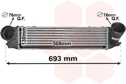 Intercooler, échangeur - VAN WEZEL - 06004473