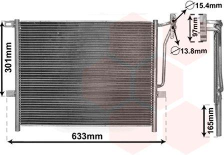 Condenseur, climatisation - VAN WEZEL - 06005203