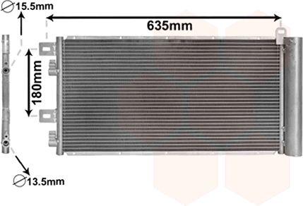 Condenseur, climatisation - VAN WEZEL - 06005256