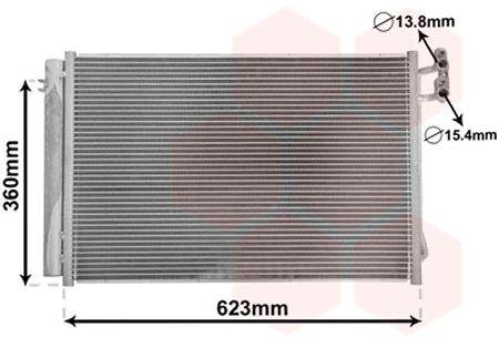 Condenseur, climatisation - VWA - 88VWA06005295