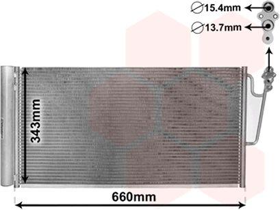 Condenseur, climatisation - VAN WEZEL - 06005363