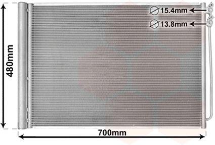 Condenseur, climatisation - VAN WEZEL - 06005370