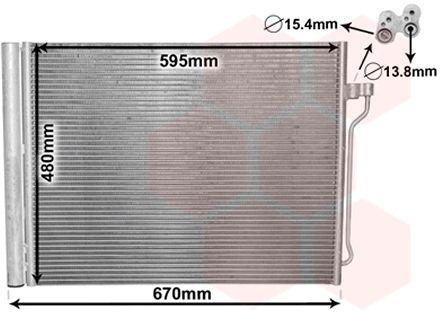 Condenseur, climatisation - VAN WEZEL - 06005409