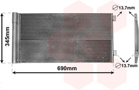 Condenseur, climatisation - VWA - 88VWA06005414
