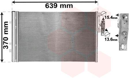 Condenseur, climatisation - VAN WEZEL - 06005479