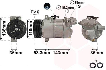 Compresseur, climatisation - VWA - 88VWA0600K321