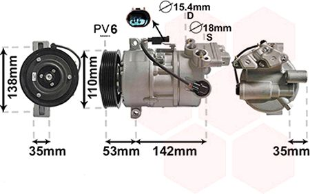 Compresseur, climatisation - VWA - 88VWA0600K393
