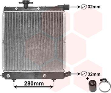 Radiateur, refroidissement du moteur - VAN WEZEL - 07002003