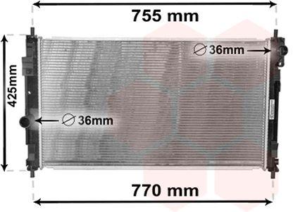 Radiateur, refroidissement du moteur - VAN WEZEL - 07002121