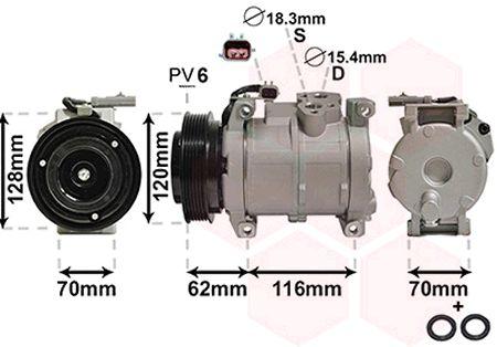 Compresseur, climatisation - VWA - 88VWA0700K109