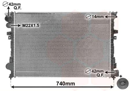 Radiateur, refroidissement du moteur - VAN WEZEL - 09002079