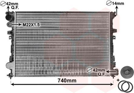 Radiateur, refroidissement du moteur - VAN WEZEL - 09002089