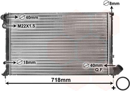 Radiateur, refroidissement du moteur - VAN WEZEL - 09002103