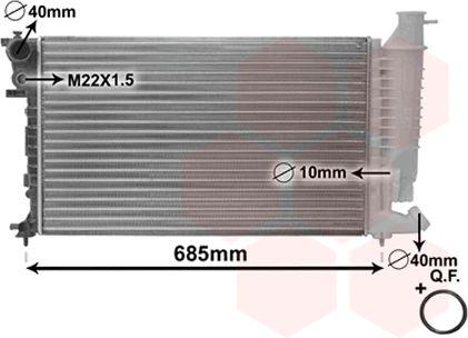 Radiateur, refroidissement du moteur - VAN WEZEL - 09002108