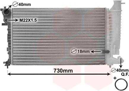 Radiateur, refroidissement du moteur - VAN WEZEL - 09002110