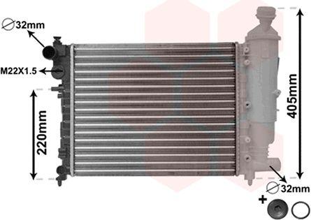 Radiateur, refroidissement du moteur - VAN WEZEL - 09002115