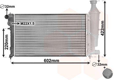 Radiateur, refroidissement du moteur - VAN WEZEL - 09002116
