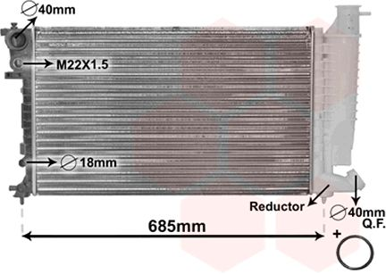 Radiateur, refroidissement du moteur - VWA - 88VWA09002136