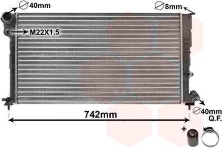 Radiateur, refroidissement du moteur - VWA - 88VWA09002137