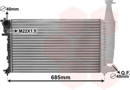 Radiateur, refroidissement du moteur - VAN WEZEL - 09002140