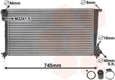 Radiateur, refroidissement du moteur - VAN WEZEL - 09002151