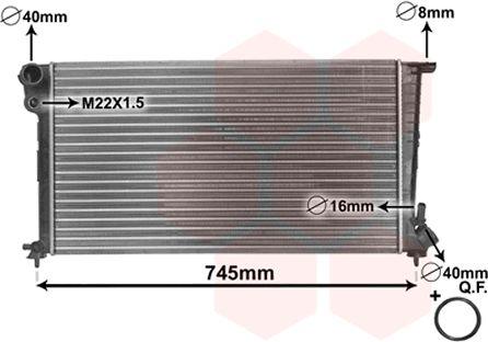 Radiateur, refroidissement du moteur - VAN WEZEL - 09002153