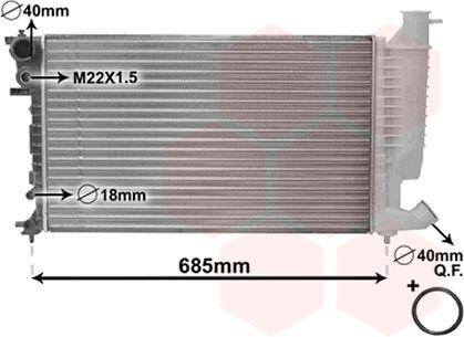 Radiateur, refroidissement du moteur - VAN WEZEL - 09002156