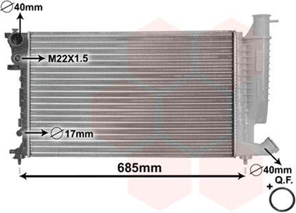 Radiateur, refroidissement du moteur - VAN WEZEL - 09002157