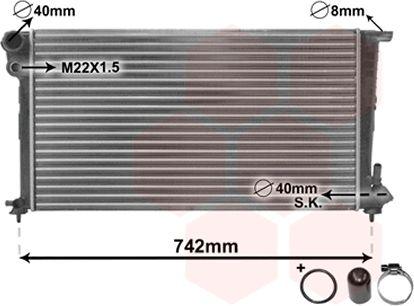 Radiateur, refroidissement du moteur - VAN WEZEL - 09002159