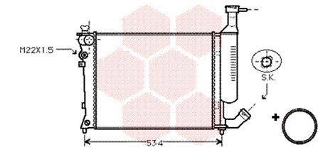 Radiateur, refroidissement du moteur - VAN WEZEL - 09002167