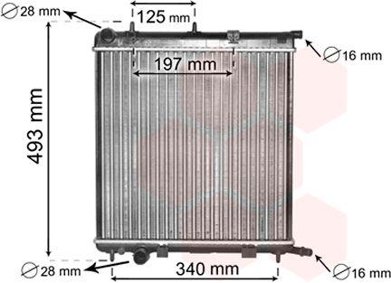Radiateur, refroidissement du moteur - VAN WEZEL - 09002188