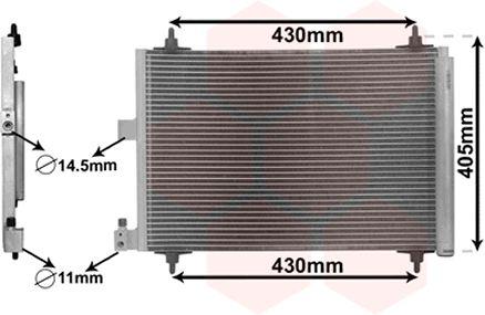 Condenseur, climatisation - VAN WEZEL - 09005173