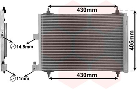Condenseur, climatisation - VWA - 88VWA09005173