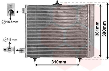 Condenseur, climatisation - VAN WEZEL - 09005205