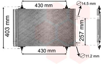Condenseur, climatisation - VAN WEZEL - 09005230