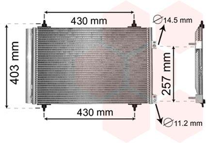Condenseur, climatisation - VAN WEZEL - 09005231