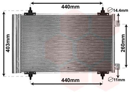 Condenseur, climatisation - VAN WEZEL - 09005263