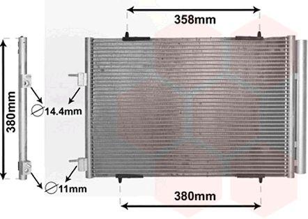 Condenseur, climatisation - VAN WEZEL - 09005272