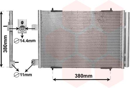 Condenseur, climatisation - VAN WEZEL - 09005274