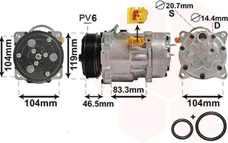Compresseur, climatisation - VWA - 88VWA0900K201