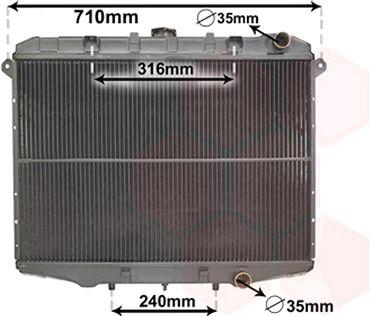 Radiateur, refroidissement du moteur - VAN WEZEL - 13002143