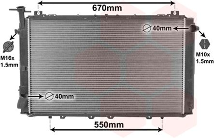 Radiateur, refroidissement du moteur - VAN WEZEL - 13002150