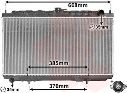 Radiateur, refroidissement du moteur - VAN WEZEL - 13002216