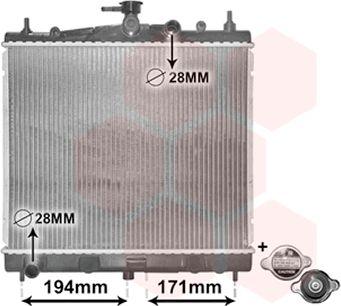 Radiateur, refroidissement du moteur - VWA - 88VWA13002247