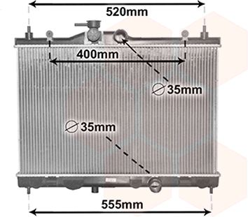 Radiateur, refroidissement du moteur - VAN WEZEL - 13002338