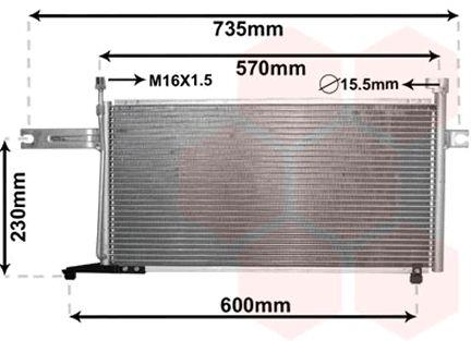 Condenseur, climatisation - VAN WEZEL - 13005194