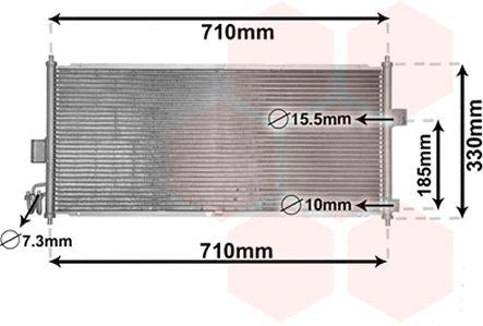 Condenseur, climatisation - VAN WEZEL - 13005201