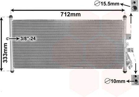 Condenseur, climatisation - VAN WEZEL - 13005277