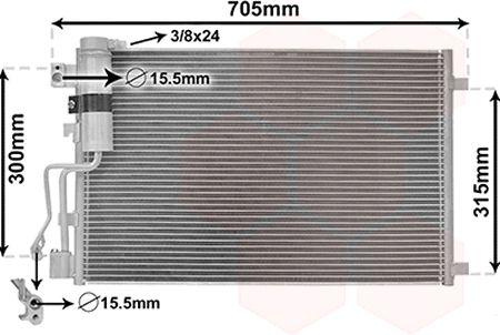 Condenseur, climatisation - VWA - 88VWA13005283
