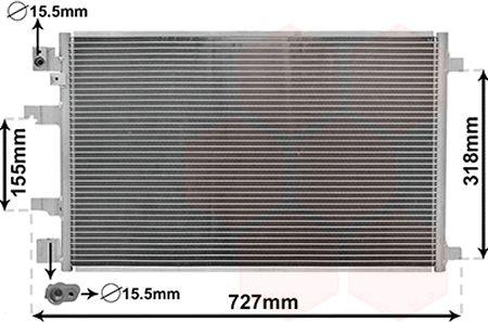 Condenseur, climatisation - VAN WEZEL - 13005290